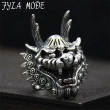 US $55.88     Buy Jewelry At Wholesale Prices!     FREE Shipping Worldwide     Buy one here---> http://jewelry-steals.com/products/fyla-mode-dragon-head-rings-for-men-punk-rock-style-100-sterling-silver-finger-rings-party-jewelry-38mm-width-29-70g-pbg055/    #earrings