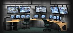Giant-Multiple-Monitors-Workstation-Command-Center-For-Security-TV-Production-Video-Editing-Desk-Superpc | Flickr - Photo Sharing!