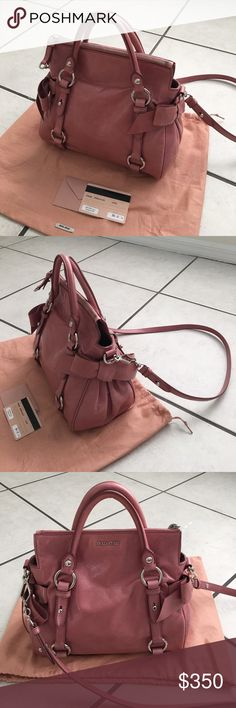 Miu Miu bow bag in a great condition I bought this bag for more than $ 800 in 2014, and I barely used it. In a great condition! Miu Miu Bags Shoulder Bags