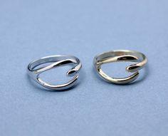 #GetSweetHJ on Artfire    #ring                     #Wishbone #ring #Gold #Silver                       Wishbone ring in Gold / Silver                                                http://www.seapai.com/product.aspx?PID=1191800