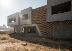 An abandoned building by HHF from Ai Weiwei and Herzog & de Meuron's Ordos 100 Project