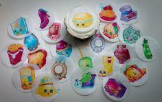 12 Shopkins Season 3 edible paper cupcake cookie by LexysDesigns