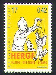 Belgium 1999 Herge Stamp. I think my mom would use this on a letter to me :)