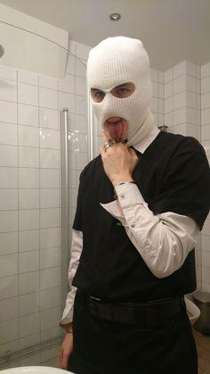 White balaclava - New Site Bad Boy Aesthetic, Angel Aesthetic, White Aesthetic, Aesthetic Grunge, Estilo Gangster, Gangster Girl, Grunge Boy, Gangsters, Balaclava