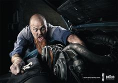 BRAUN CAMPAIGN - AVOID BAD BEARD DAYS by Florian Groehn, via Behance