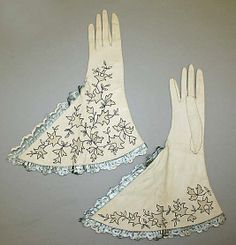 Gloves from The Metropolitan Museum of Art collection, dated 1930, of leather from France.
