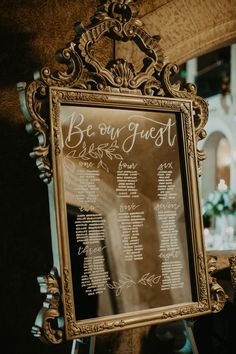 This Fairmont Banff Springs Wedding is Equal Parts Elegant and Epic Views Elegant seating chart signage written on a vintage gold mirror Chic Wedding, Spring Wedding, Elegant Wedding, Wedding Styles, Our Wedding, Dream Wedding, Lace Wedding, Wedding Rings, Wedding Dresses