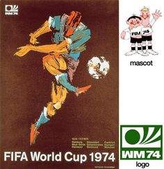 Cartel oficial de la Copa del Mundo Alemania 1974 realizado por Fritz Genkinger / Official poster of the FIFA World Cup Germany 1974 designed by Fritz Genkinger 1974 World Cup, World Cup 2014, Fifa World Cup, Soccer Art, Soccer Poster, Sand Soccer, Football Posters, Football Images, Sports Posters