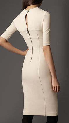 Burberry - CRÊPE-JERSEY TAILORED DRESS