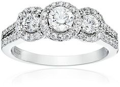 14k White Gold Diamond Bridal Ring (1cttw, H-I Color, I1 Clarity), Size 7 Amazon Collection http://smile.amazon.com/dp/B00ZZN3DTW/ref=cm_sw_r_pi_dp_YxUfwb1FMKE8X
