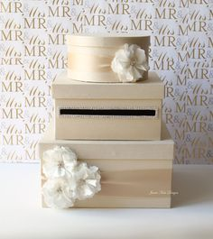 Wedding Card Box Money Box Gift Card Holder  by jamiekimdesigns, $128.00