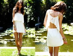 Little summer white dress Fasion, Fashion Outfits, Chic, Swagg, Playing Dress Up, Dress Me Up, Passion For Fashion, Dress To Impress, Just In Case