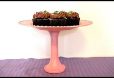 This custom cake stand DIY is done on a dime for an instant upgrade in entertaining style.