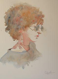 Carlos Leon Salazar (watercolor painting)