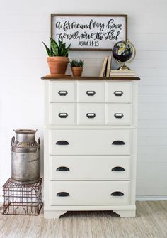 Card Catalog Dresser painted in Fusion Mineral Paint's Casement! #FusionMineralPaint #FusionFamily #PaintItBeautiful