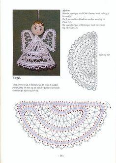 angel 2 Bobbin Lace Patterns, Crochet Patterns, Doily Art, Bruges Lace, Bobbin Lacemaking, Crochet Angels, Crochet Christmas Ornaments, Theme Noel, Lace Jewelry