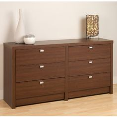 Prepac Series 9 Designer 6Drawer Dresser Warm Cherry >>> Learn more by visiting the image link. (This is an affiliate link)