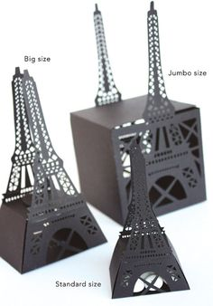 Eiffel Tower Favor Box by KatBluStudio on Etsy Silhouette Cameo, Box Packaging, Packaging Design, Paris Vintage, Paper Art, Paper Crafts, Paris Party, Diy Box, Favor Boxes