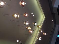 Ceiling lights in the bar of Hilton Brighton metropole hotel, so pretty