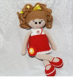 Doll handmade gift for girl cute doll от SlingNecklaceAndToys