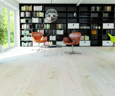 Lyed and whiteoiled Douglas floors from Swedish Rappgo.
