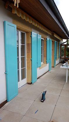Volets aluminium Garage Doors, Outdoor Decor, Shutters, Carriage Doors