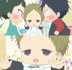 Escenas Gakuen Babysitters, Kawaii Cute, Kawaii Anime, Anime Child, Vocaloid Cosplay, Black Butler Kuroshitsuji, Baby Sister, Manga Boy, Babysitting