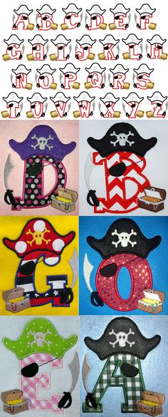 Pirate Letters applique