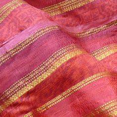 Sari fabric - coming soon Lucy Beresford's latest novel set in India. Indian Textiles, Indian Fabric, Sari Fabric, Sari Silk, Pink Love, Pink Yellow, Pink And Gold, Pretty In Pink, Serge Gainsbourg