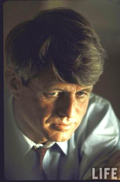 Rfk Campaign Pensive portrait of presidential contender Bobby Kennedy during campaign. Location: US Date taken: 1968