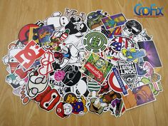 200 Skateboard Stickers Vintage Vinyl Laptop Luggage Decals Dope Sticker Mix Lot in Sporting Goods, Outdoor Sports, Skateboarding & Longboarding | eBay