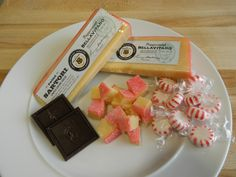 Our Peppermint BellaVitano tastes pretty good on its own, but is wonderfully paired with some dark chocolate!