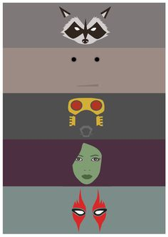 Guardians of the Galaxy (2014) ~ Minimal Movie Poster by Joris Laquittant #amusementphile