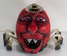 Halloween Spider Red Demon Francesca Steampunk Wood by llacarve, $50.00