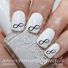 Valentine's Day Nail Art Infinity Nail Water Decals Water Slides 20 mix water decals on a clear water transfer which can be applied over any color varnish on either your natural or false nail. Use: 1.
