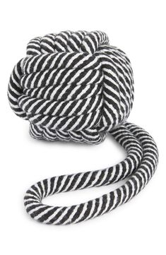 Perfect for teething or tug-of-war, this knotted dog toy sports the rugged durability of cotton rope colored with eco-friendly vegetable dyes. Style Name:Ware Of The Dog Knotted Cotton Rope Dog Toy. Style Number: 6130544. Modern Dog Toys, Dog Bunk Beds, Black White Stripes, Black And White, Cotton Rope, Pet Accessories, Cat Toys, Knots, Nordstrom