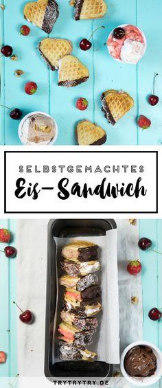 Ein Rezept für günstiges, einfaches, selbstgemachtes Eis OHNE Eismaschine! Mit einem Zusatzrezept für Eis-Sandwiches! Sandwiches, Fudge, Desserts Rafraîchissants, Ice Ice Baby, Christmas Breakfast, Breakfast Dessert, Fun Drinks, Finger Foods, Kitchens