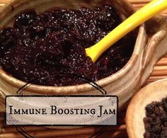 I can't think of a tastier way to stay healthy than this Elderberry Jam! Elderberries reportedly boost the immune system to keep you and your family well.