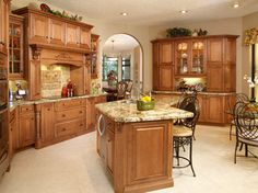 Traditional Honey Maple Kitchen Cabinets With Quartz Kitchen Design Ideas,  Pictures, Remodel And Decor