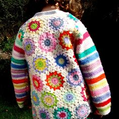 Crochet hexagons cardigan jacket, one-off custo... - Folksy