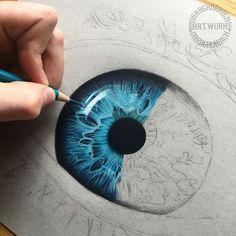 Fascinating Eyes Colors Drawing – – You are in the right place about decoration art ideas Here we offer you the most beautiful pictures about the decoration art wall you are looking for. When you examine the Fascinating Eyes Colors Drawing – – part of … Realistic Eye Drawing, Drawing Eyes, Painting & Drawing, Colour Drawing, Pencil Art Drawings, Cool Drawings, Art Sketches, Color Pencil Art, Eye Art