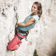 epicbeta: via Instagram's @metoliusclimbing - Hedi Friedl climbing 8b in the Alps in the Metolius Safe Tech Comp Harness with locking speed-buckle. Photo: Wolfgang Liebacher #rockclimbing #alps www.epicbeta.net