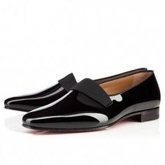 7f0d99765d06 Christian Louboutin smoker flat Black Patent Leather Mens Loafer  Sneakers