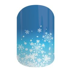 """Jamberry has a bunch of new Holiday nail wraps.  This one is """"Let it Snow"""".  I LOVE blue on my nails!  #MustHave #Obsessed"""