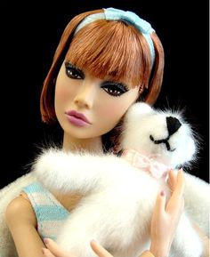 Marion's favorite teddy is Squiggy.  Poppy Parker Dolls: Dolls of 2009
