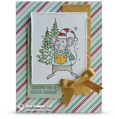 CARD: A Merry Mice and Jar of Cheer Cute Christmas Collaboration | Stampin Up…