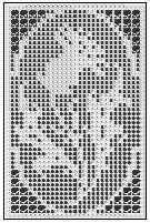 Thistle Flower Iris and Rose Filet Crochet Home Decor Picture Wall Grouping