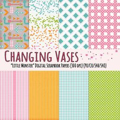 Free Digital Paper Pack - Little Monsters by Changing Vases