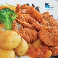 La especialidad del día de hoy son camarones al coco. ¿No se les antojaron?  Beachscape Kin Ha (Cancún).
