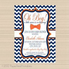 Little Man Baby Shower Bow Tie Digital by PaperTreePrintables, $12.00